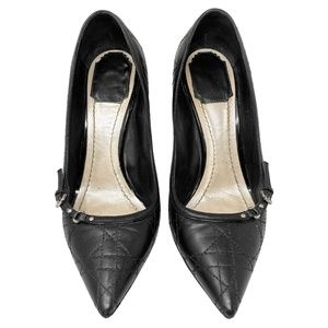 Dior Cannage Quilted Leather Pointed Toe Pumps